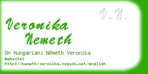 veronika nemeth business card